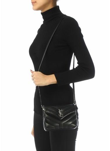 Saint Laurent Saint Laurent Loulou Toy  Kadın Deri Omuz Çantası 101621875 Siyah